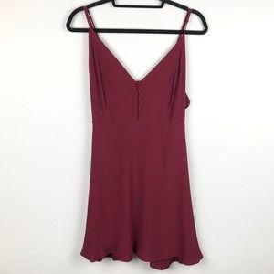 LULU'S NWT Cranberry Tank Button Top Mini Dress Wo
